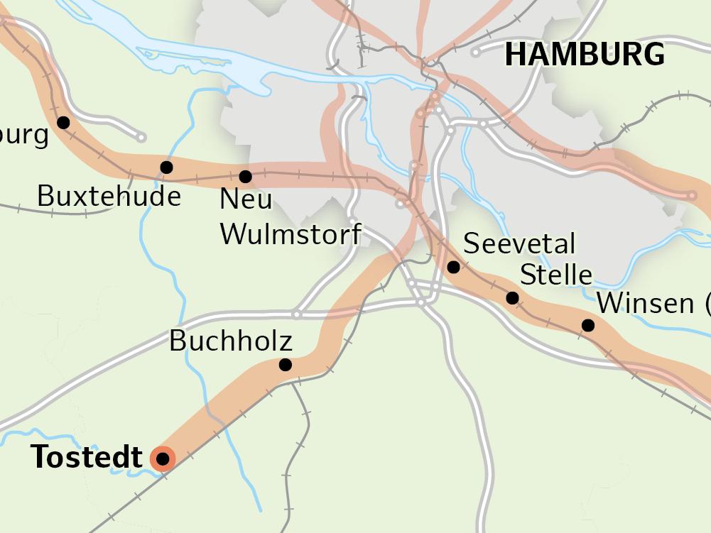 Radschnellweg Tostedt – Buchholz – Harburg